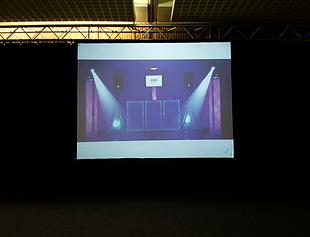pantalla de vídeo proyección en evento de empresa