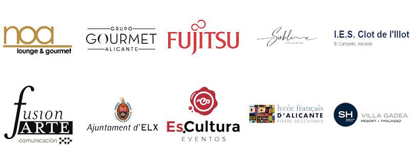 Logos de clientes de la empresa tecnosonido